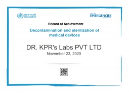 WHO Certificate